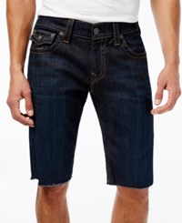True Religion Men's Ricky Cutoff Jean Shorts Indigo