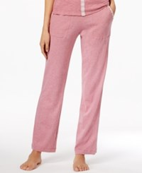 Lucky Brand Embroidery Trimmed Pajama Pants Hot Pink