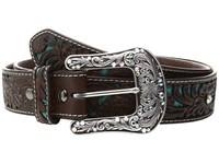 Ariat Turquoise Inlay Belt Brown Women's Belts