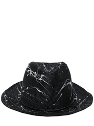 Move Splatter Painted Woven Straw Hat
