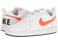 Nike Recreation Low White Black Bright Melon Total Crimson Women's Lace Up Casual Shoes