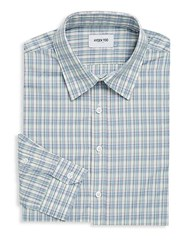 Hyden Yoo Plaid Cotton Dress Shirt Multi