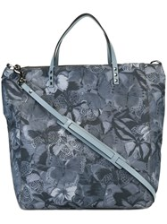 Valentino 'Camubutterfly' Shopper Tote Blue