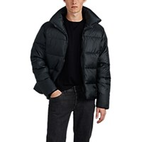 Barneys New York Quilted Tech Taffeta Puffer Coat Dk. Green