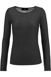 Line Barton Modal And Cashmere Blend Sweater Charcoal