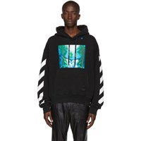 Off White Black And Multicolor Waterfall Hoodie