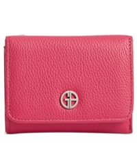 Giani Bernini Softy Leather Mini Trifold Wallet Only At Macy's Raspberry