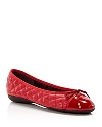 Paul Mayer Ballet Flats Best Quilted Red