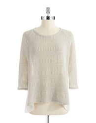 Casual Couture By Green Envelope Layered Style Knit Top Chalk