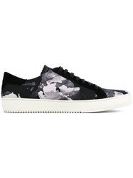 Off White Stain Print Sneakers Black