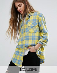 Reclaimed Vintage Shirt In Check Yellow