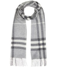 Burberry Giant Check Cashmere Scarf Grey