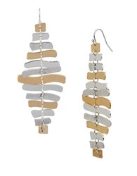 Robert Lee Morris Prisma Two Tone Stacked Bar Earrings Gold