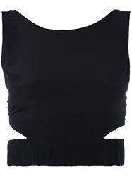 Zeus Dione Arete Crop Top Women Silk 38 Black