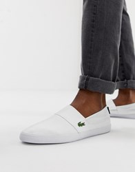 00bd720fb Lacoste Marice Slip On Plimsolls In White
