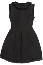 Marc By Marc Jacobs Tulle Trimmed Cloque Mini Dress Black