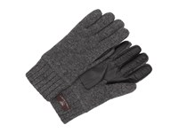 Ugg Calvert Glove With Smart Glove Leather Palm Granite Heather Dress Gloves Gray