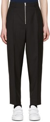3.1 Phillip Lim Black Exposed Zip Trousers