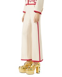 Gucci Wool Silk Ankle Pants White