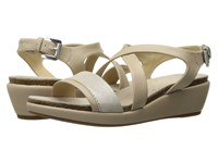 Geox W Abbie 5 Light Taupe Champagne Women's Sandals Silver