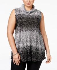 Alfani Plus Size Textured Cowl Neck Top Only At Macy's Black White Ombre