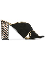 Rene Caovilla Hill Sandals Black