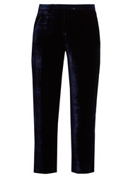 Masscob Milna Straight Leg Velvet Trousers Navy