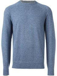 Brunello Cucinelli Crew Neck Jumper Blue