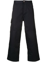 Jacquemus Dark Blue Cropped Trousers