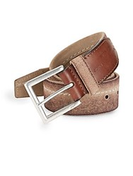 John Varvatos Waxed Leather Belt Natural