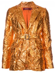 Sies Marjan Terry Belted Blazer Yellow And Orange