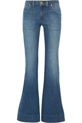 Michael Michael Kors Mid Rise Flared Jeans Blue