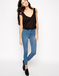 Dr. Denim Dr Denim Domino Skinny Jeans With Ankle Zips Lightwash