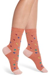 Paul Smith Fantasia Ice Lolly Crew Socks Coral Pop