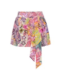 Etro Printed Silk Shorts Multicoloured