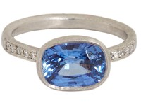 Malcolm Betts Women's Sapphire Solitaire Ring No Color