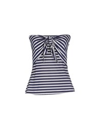 Guess By Marciano Topwear Tube Tops Women Dark Blue