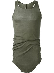 Rick Owens Curved Hem Tank Top Green