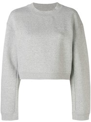 Alexander Wang Cropped Logo Sweatshirt Grey