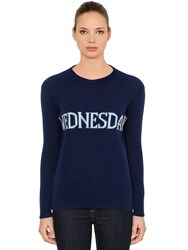 Alberta Ferretti Over Wednesday Wool And Cashmere Sweater Blue