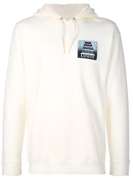 Edwin Logo Patch Hooded Sweatshirt Nude And Neutrals