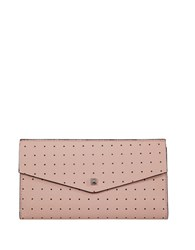 Lodis Blair Perf Leather Clutch Blush Taupe