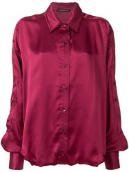 Y Project Loose Fit Shirt Silk Pink Purple