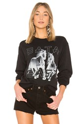 Baja East Horse Sweatshirt Black