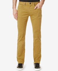 Buffalo David Bitton Men's Slim Straight Fit Six Torpedo Stretch Twill Jeans Authentic Ginger