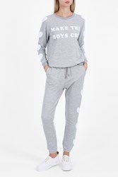 Zoe Karssen Heart Embroidered Joggers Grey