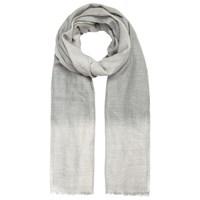 Jacques Vert Check Ombre Scarf Light Grey