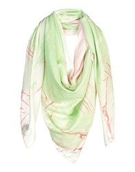 Marc By Marc Jacobs Square Scarves Light Green