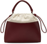 Carven Burgundy Canvas And Leather Tote