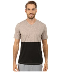 Brooks Fly By Short Sleeve Top Heather Carb Black Men's Short Sleeve Pullover Brown